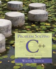 Problem Solving with C++ 7th edition 9780133001662 0133001660