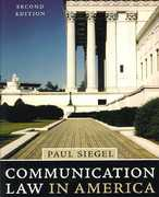 Communication Law in America 2nd edition 9780742553873 0742553876