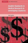 Double Standards in Medical Research in Developing Countries 0 9780521541701 0521541700