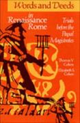 Words and Deeds in Renaissance Rome 2nd Edition 9780802076991 0802076998