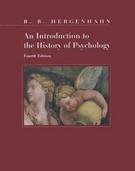 An Introduction to the History of Psychology 4th edition 9780534551827 0534551823