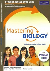 MasteringBiology with Pearson eText Student Access Code Card for Campbell Biology 9th edition 9780321686510 0321686519