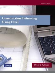 Construction Estimating Using Excel 2nd Edition 9780138007195 0138007195