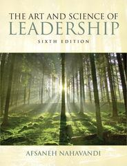 The Art and Science of Leadership 6th Edition 9780132544580 013254458X