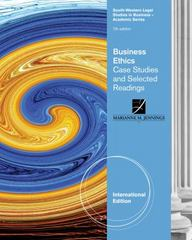 Business Ethics 7th edition 9780538473545 0538473541