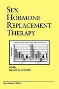 Sex Hormone Replacement Therapy 0 9781441950048 1441950044