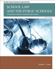 School Law and the Public Schools 5th Edition 9780137072750 0137072759
