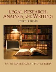 Legal Research, Analysis, and Writing 4th edition 9780135109441 0135109442