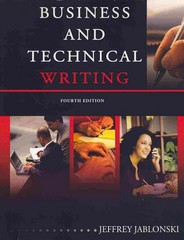 Business and Technical Writing 4th Edition 9780757585784 0757585787