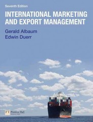 International Marketing & Export Management 7th edition 9780273743880 0273743880