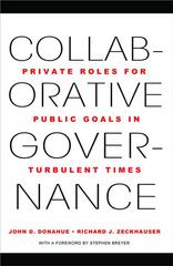 Collaborative Governance 1st Edition 9781400838103 140083810X