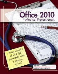 Microsoft Office 2010 for Medical Professionals Illustrated 1st edition 9781111820992 1111820996