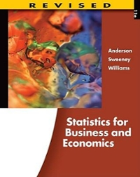 Statistics for Business and Economics (with Printed Access Card) 11th edition 9780538481649 0538481641