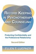 Record Keeping in Psychotherapy and Counseling 2nd Edition 9780415892612 0415892619