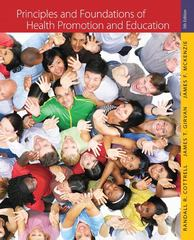 Principles and Foundations of Health Promotion and Education 5th edition 9780321734952 0321734955