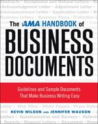 The AMA Handbook of Business Documents 1st Edition 9780814417690 0814417698