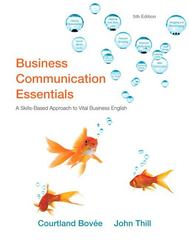Business Communication Essentials 5th edition 9780132539715 0132539713