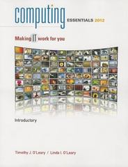 Computing Essentials 2012 Introductory Edition 22nd edition 9780077470814 0077470818