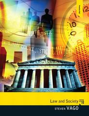 Law and Society 10th edition 9780205820382 0205820387