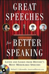 Great Speeches For Better Speaking (Book + Audio CD) 1st Edition 9780071472296 0071472290