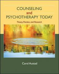 Counseling and Psychotherapy Today 1st edition 9780073112251 0073112259