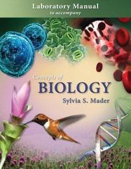 Lab Manual t/a Concepts of Biology 1st edition 9780073292007 0073292001