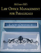 McGraw-Hill's Law Office Management for Paralegals 1st Edition 9780073376943 0073376949