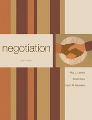 Negotiation 6th Edition 9780073381206 0073381209