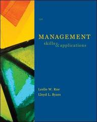 Management: Skills and Application 13th edition 9780073381503 0073381500