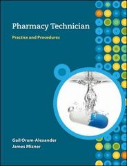 Pharmacy Technician 0th edition 9780073520728 0073520721