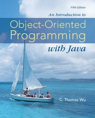 An Introduction to Object-Oriented Programming with Java 5th edition 9780073523309 0073523305