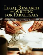 Legal Research & Writing for Paralegals 1st edition 9780073524627 007352462X