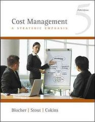 Cost Management: A Strategic Emphasis 5th edition 9780073526942 0073526940