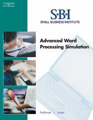 SBI: Advanced Word Processing Simulation (with CD-ROM) 2nd Edition 9780538437554 0538437553