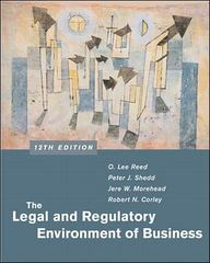 The Legal and Regulatory Environment of Business 12th edition 9780072440607 0072440600
