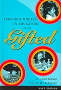 Teaching Models in Education of the Gifted 3rd Edition 9780890799994 0890799997