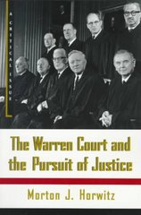 The Warren Court and the Pursuit of Justice 1st Edition 9780809016259 0809016257