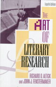 The Art of Literary Research 4th Edition 9780393962406 0393962407