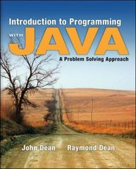 Introduction to Programming with Java: A Problem Solving Approach 1st edition 9780073047027 0073047023
