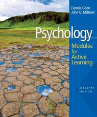 Psychology 11th edition 9780495553380 0495553387