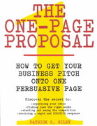 One-Page Proposal 1st edition 9780060988609 0060988606