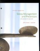 Stress Management and Prevention 1st Edition 9781111801793 1111801797