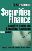 Securities Finance 1st edition 9780471678915 0471678910