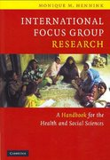 International Focus Group Research 1st edition 9780521845618 0521845610