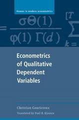 Econometrics of Qualitative Dependent Variables 1st edition 9780521589857 0521589851