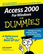 Access 2000 For Windows For Dummies 1st edition 9780764504440 0764504444