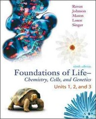 LSC Foundations of Life: Chemistry, Cell Biology, and Genetics, Vol 1, w/ConnectPlus (COL1) 9th edition 9780077492779 0077492773
