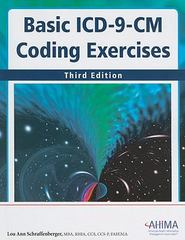 Basic ICD-9-CM Coding Exercises, Third Edition 3rd Edition 9781584262800 158426280X