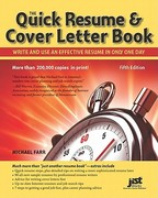 Quick Resume and Cover Letter Book 5th Edition 9781593578565 1593578563