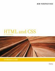 New Perspectives on HTML and CSS 6th Edition 9781111526481 1111526486